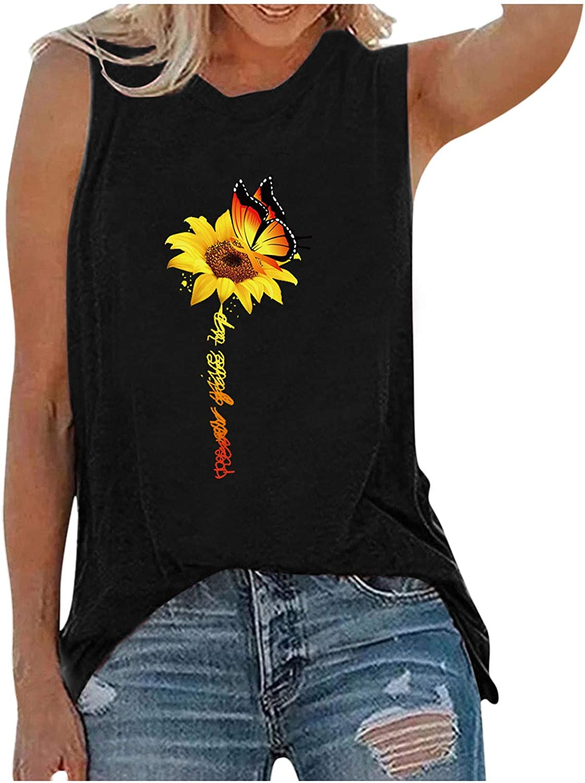 Qopobobo Tank Tops for Women Summer Tunic Casual Sleeveless Tshirt Solid Stripe Womens Yoga Tank Tops Workout Shirts