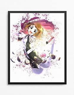 Boku no Hero Academia print, Boku no Hero Academia poster, Uraraka Ochako print, Uraraka Ochako poster, Anime poster Watercolor N.004 (8 x 10 inch)
