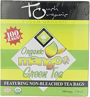 Touch Organic Mango Green Tea Cube, 100 Count, 7.05-Ounces Boxes (Pack of 4)