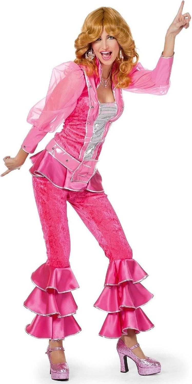 W4147A pink Damen Disco Anzug Dancing Queen