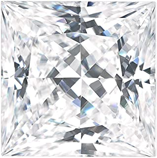 Charles & Colvard Forever One Colorless Square Princess Cut Moissanite Gemstone (D-E-F) by Charles & Colvard