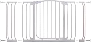 Dreambaby Chelsea Hallway Auto Close Security Gate in White with Extensions