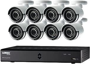 Lorex by FLIR LHA2000 16-Channel HD MPX DVR with 8X LAB223B 1080p Weatherproof 130' IR Camera and Pre-Installed 2TB HDD, FLIR Secure Connectivity