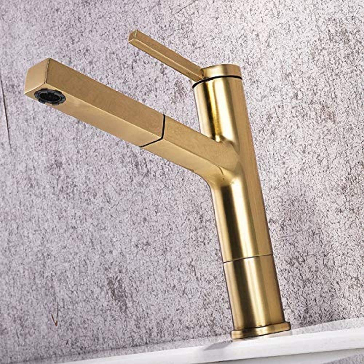 Basin Taps Swivel Spout Faucet Bathroom Faucet Drawing Type Antique Cold and Hot Water Basin redary Table Basin Faucet
