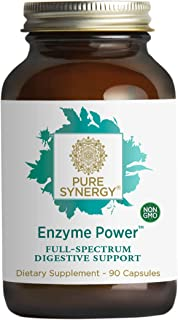 Pure Synergy Enzyme Power™ (90 Capsules) 15+ Plant-Based Digestive Enzymes Including Bromelain, Lipase, Amylase & More