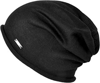 Slouchy Summer Silk Beanie Cap - Soft Mens Chemo Hat Sensitive Skin Womens