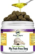 Paws of Kerry Calming Treats for Dogs Anxiety, Natural Hemp Oil for Dog Anxiety Relief, Dog Calming Aid for Separation Anxiety, Stress, Storms, Fireworks, Chewing & Barking 120 Soft Chews