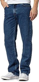 42bf184a101384 MyShoeStore Mens Original 100% Cotton Jeans Plain Straight Leg Heavy Duty  Denim Wash Boys Jean
