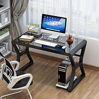 Computer bureau Eenvoudige desktop computer bureau, thuis slaapkamer bureau, eenvoudig bureau, studeerbureau, gehard glas ...
