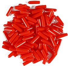PVC Rubber Schroefdraadbeschermers, ID 5.5mm Rode Ronde Eindkap Cover Flexibele Buis Bolt Cap, 50 Stks