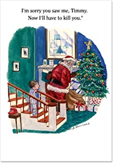 12 Boxed 'I'm Sorry Timmy' Christmas Cards with Envelopes (4.75 x 6.625 Inch), Funny Happy Holidays with Santa Christmas Notes, Great Card for Wishing a Merry Christmas or Season's Greetings B1603
