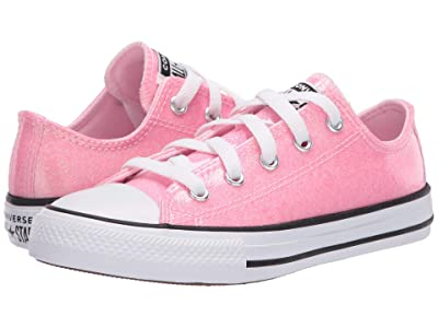 Converse Kids Chuck Taylor(r) All Star(r) Coated Glitter (Little Kid/Big Kid) (Cherry Blossom/Black/White) Girl