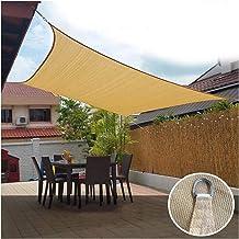 LIXIONG Zonnekap Zeil, Windbestendig UV Bescherming Sunblock Luifel, Rechthoek HDPE Schaduwnet Luifel voor Outdoor Oourtya...