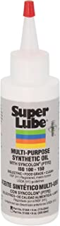 Super Lube 51004 Synthetic Oil with PTFE, High Viscosity, 4 oz Bottle