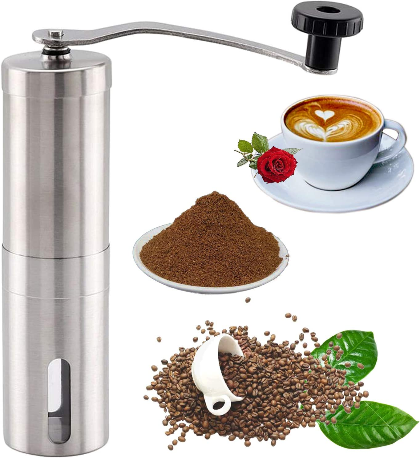 Manual Coffee Grinder Inventory cleanup selling sale Portable Sett New product!! with Burr Adjustable