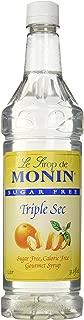 Monin Sugar Free Triple Sec O'free (Sugar Free, Calorie Free), 33.8-Ounce Plastic Bottle (1 liter Bottle)