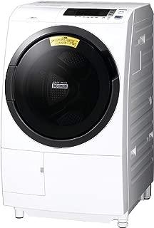 日立 ドラム式洗濯乾燥機 ビッグドラム 洗濯10kg/洗濯~乾燥6kg 左開き 幅スリムタイプ60cm 日本製 風アイロン 洗濯槽自動おそうじ ヒートリサイクル乾燥 省エネ&節水 BD-SG100CL W