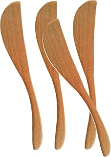 rainbow, Wooden Butter Knife Cheese Spreaders, set of 4