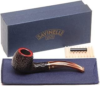 Savinelli Italian Tobacco Smoking Pipes, Roma Rusticated 626