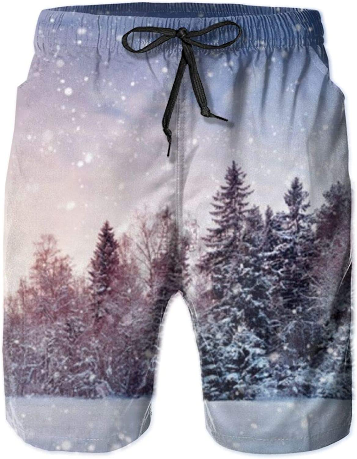 Men's Christmas Scenery Snow Fort Worth Mall Quick Short Dry Stylis Trunks Fixed price for sale Swim