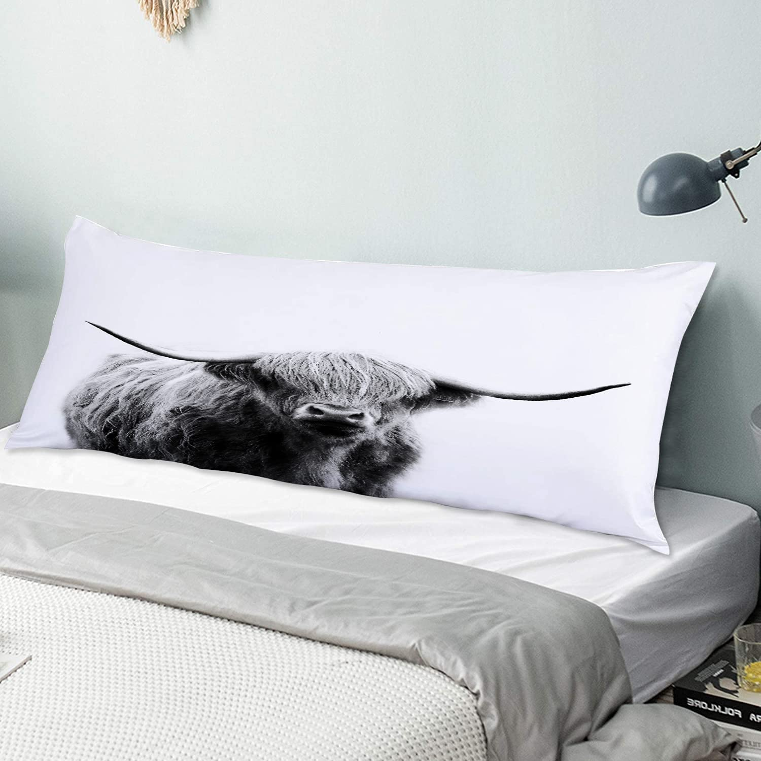 NINEHASA Body Pillow Pillowcase Animal Ult Decorative Cow Max Same day shipping 41% OFF Cattle