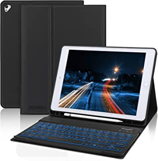 Keyboard Case 9.7 inch [with Pencil Holder] for iPad 2018(6th Gen),iPad Pro 2017 (5th Gen),iPad Pro 9.7,iPad Air 2 and iPad Air, Auto Wake/Sleep, iPad Case with Keyboard, Black