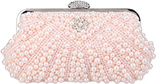 Bonjanvye Pearl Clutch Purses and Evening Bags for Women Clutches