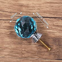 30mm Crystal Glass Knoppen Kast Handvatten Kleurrijke Crystal Ball Kast Trekt Lade Knoppen Keuken Meubels Handvat Hardwar...