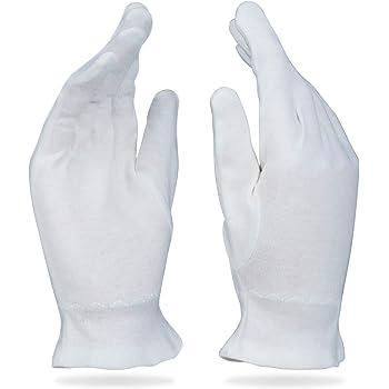 Care Wear Guantes Blancos De Algodón Tamaño Grande Para Eccema, Piel Seca, e Hidratante - 20 Guantes: Amazon.es: Belleza
