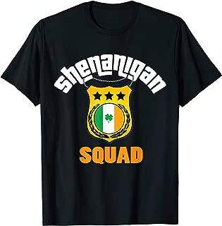Shenanigan Squad Paddys Day Shirt Police Cops Irish Badge