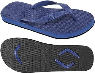 Boomerangz Regular Fit Interchangeable Flip Flops | Slippers | Thongs (Men's) Colour: Navy/Black