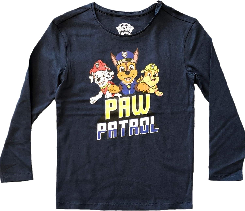 PAW Patrol - Oberteil für Jungen, Langarm, Blau