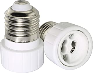 Tegg E27 to GU10 Adapter 2PCS E27 Edison Screw to GU10 Bayonet Base Adapter Converter For Light Lamp Bulb