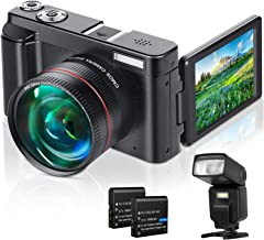 Lecran Digital Camera, WiFi Video Camera FHD 1080P 30FPS 24MP Video Camcorder, YouTube Vlogging Camera with IR Night Visio...
