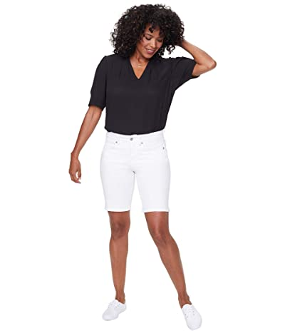 NYDJ Ella Shorts with Side Slits (Optic White) Women