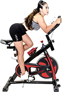 Fit Right Indoor Stationary Bike with 22 LB Flywheel, Exercise Bike Stationary for Home Gym with Digital Monitor, 285 LB Max RED