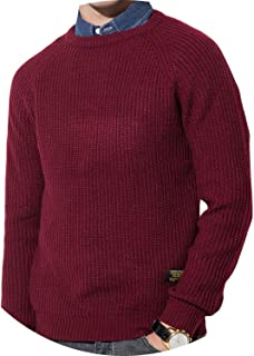 floral hoop 3Color Winter Men Pullover Sweaters Warm Thick Autumn Knited Jumper Navy Red Khaki MULS M-4XL