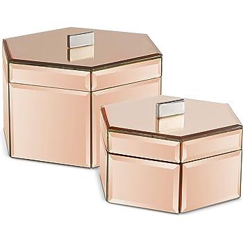 boite a bijoux couleur rose gold