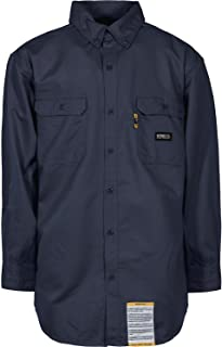 Berne Men's Flame Resistant Button Down Work Shirt 5XL and 6XL - Frsh10nvr_Xx