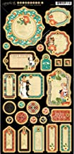 Graphic 45 Raining Cats and Dogs Chipboard Die-Cuts, Journaling