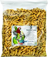 Tropican High Performance Parrot Sticks, Enriched with Vitamins & Minerals for Birds Needing Extra Nutrition, 20 lb Bag