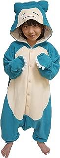 Kigurumi - Pokemon - Snorlax - Onesie Jumpsuit Halloween Costume - Kids Size (5-9 Year Old) Blue