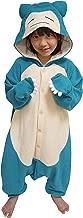 SAZAC Kigurumi - Pokemon - Snorlax - Onesie Jumpsuit Halloween Costume - Kids Size (5-9 Year Old) Blue
