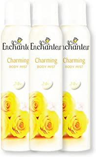 Enchanteur Body Mist Deo, Charming, 150ml (Pack of 3)