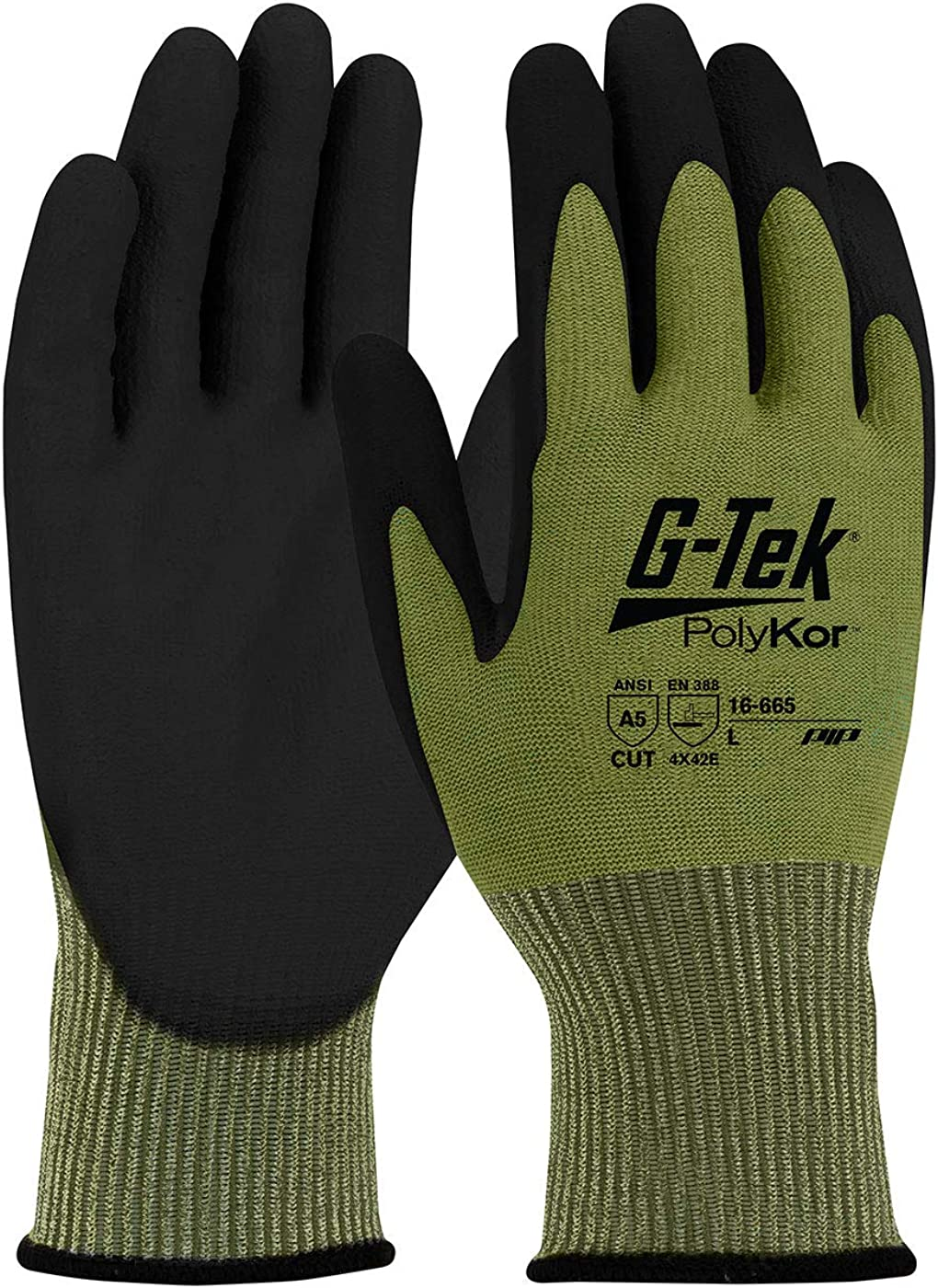 G-Tek PolyKor Seamless Knit Blended Excellence with Max 82% OFF Polyureth Glove