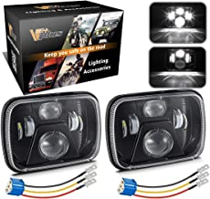 Partsam 5x7 Inch LED Headlights 7x6 Led Sealed Beam Headlamp w/High Low Beam H6054 6054 6052 LED 110W w/ H4 Wiring Harness Compatible with Jeep Wrangler YJ Cherokee XJ Toyota Pickup True DOT (Pair)