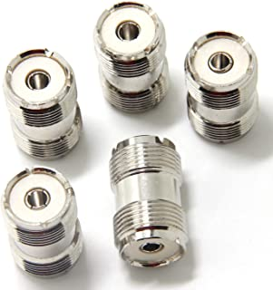 Ancable 5-Pack UHF PL-259 Female to UHF PL-259 Female Coaxial Adaptor Connector Coupler Joiner for CB Ham Radio Antenna