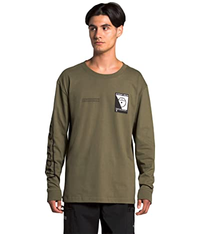 The North Face Steep Tech Long Sleeve Tee (Burnt Olive Green) Clothing