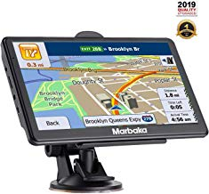 [2019 Upgraded Version] GPS Navigation for car, 7 inch HD Capacitive Touch Screen GPS Navigation System with 8G Memory, Attach Sunshade,Free Lifetime Maps Update,Pre-Install North America map