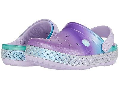 Crocs Kids Crocbandtm Mermaid Metallic Clog (Toddler/Little Kid) (Lavender) Girl
